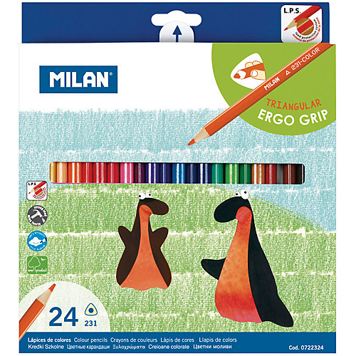 """Карандаши """"231"""" 24 цвета Milan, трехгранные от Milan"""