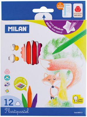 Мелки восковые 12 цветов Milan