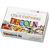 Краски по стеклу и керамике 6 цветов 20мл Decola