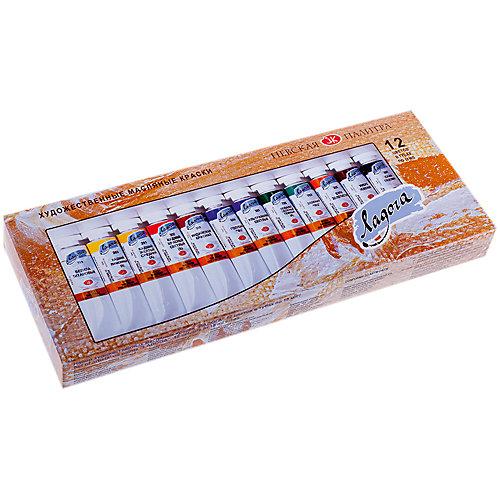 Краски масляные 12 цветов Ладога, 18мл/туба от Невская палитра