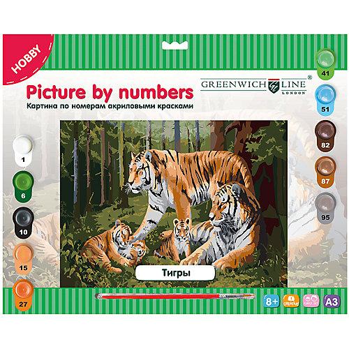 """Картина по номерам А3 """"Тигры"""" Greenwich Line от Greenwich Line"""