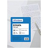 Бумага писчая А4 100 листов OfficeSpace, клетка