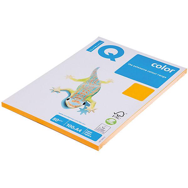 "Бумага ""IQ Color neon"" А4 100 листов IQ, оранжевый неон"