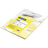 Бумага цветная pale А4 50 листов OfficeSpace, желтый