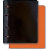 Тетрадь А5+ Феникс+, черный + оранжевый