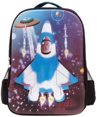 """Рюкзак """"Самолет"""", цвет черный с синим"""