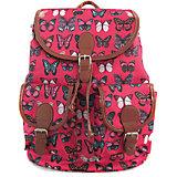 """Рюкзак """"Махаоны"""" с 2-мя карманами, цвет розовый"""