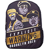 "Рюкзак ""Straight Outta Brooklyn: Rappers"", цвет черный/желтый"