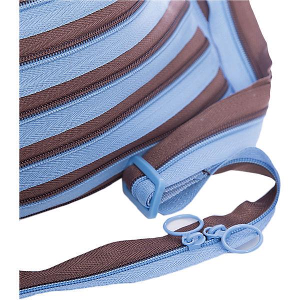 Сумка Medium Shoulder Bag, цвет голубой/коричневый