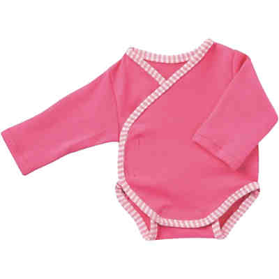 Puppenkleidung Body langarm, Pink, 43cm