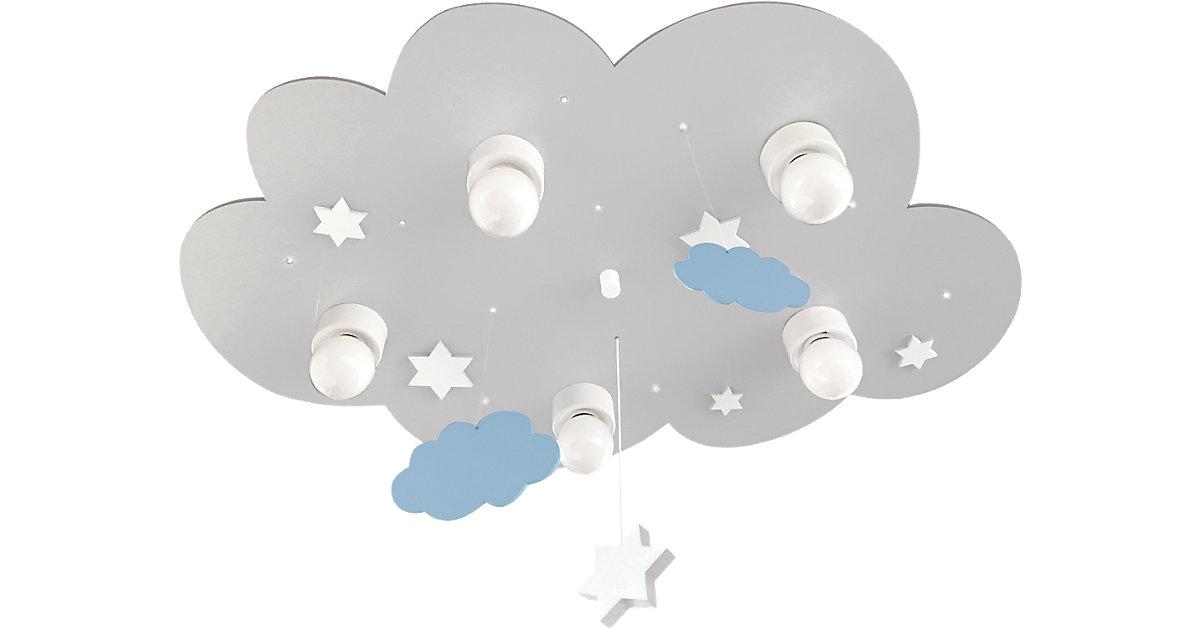 Waldi · Deckenleuchte Wolke grau mit Wolken und Stern 5-flg.