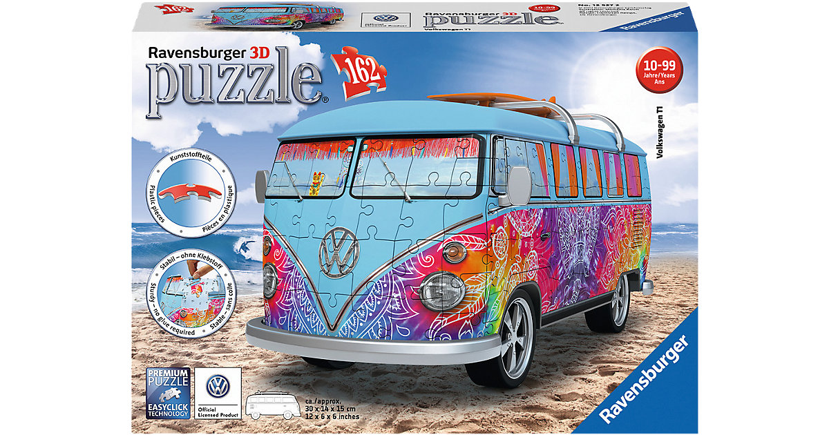 3D Puzzle 162 Teile VW Bus T1 Indian Summer