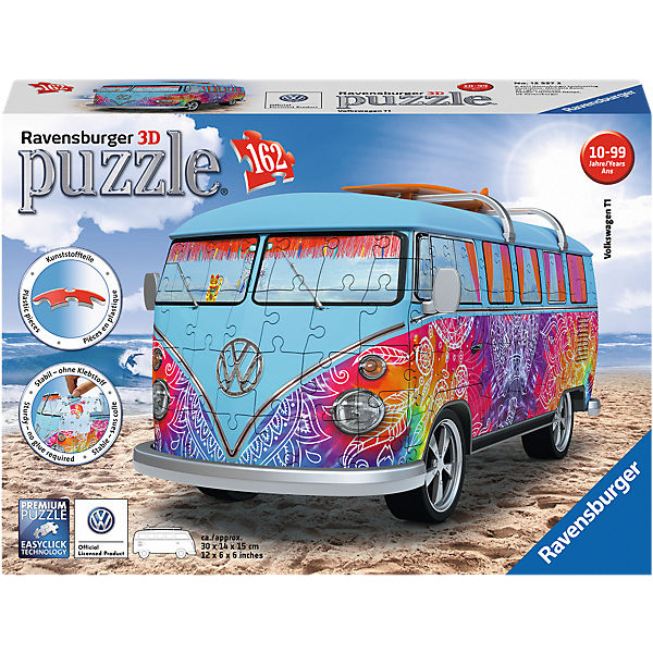3d puzzle 162 teile vw bus t1 indian summer ravensburger. Black Bedroom Furniture Sets. Home Design Ideas