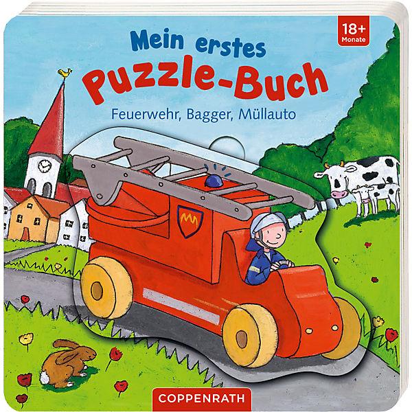 Mein erstes Puzzle-Buch: Feuerwehr, Bagger, Müllauto, Coppenrath Verlag