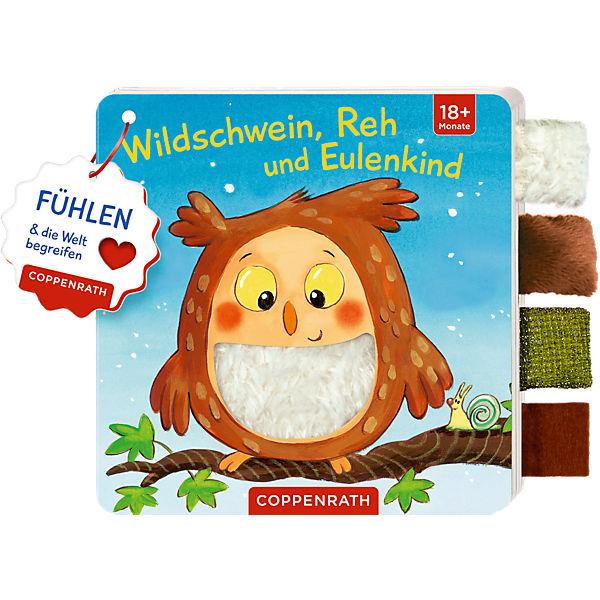 Mein Fühl-Laschenbuch: Wildschwein, Reh und Eulenkind, Coppenrath Verlag
