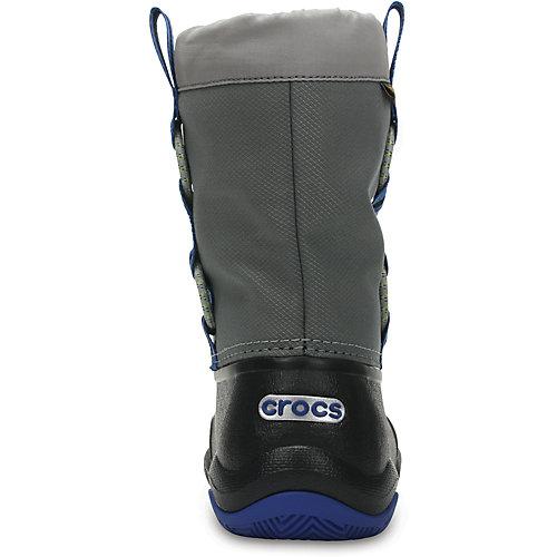 Сноубутсы CROCS Swiftwater Waterproof Boot K - черный от crocs