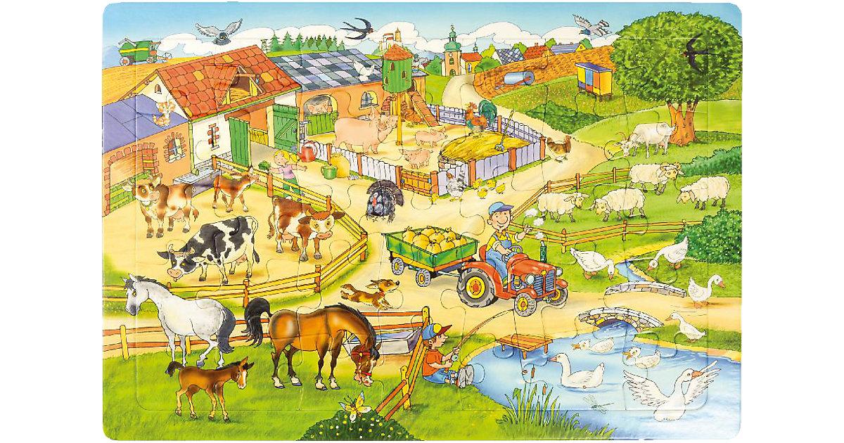 Rahmenpuzzle Bauernhof, 35 Teile