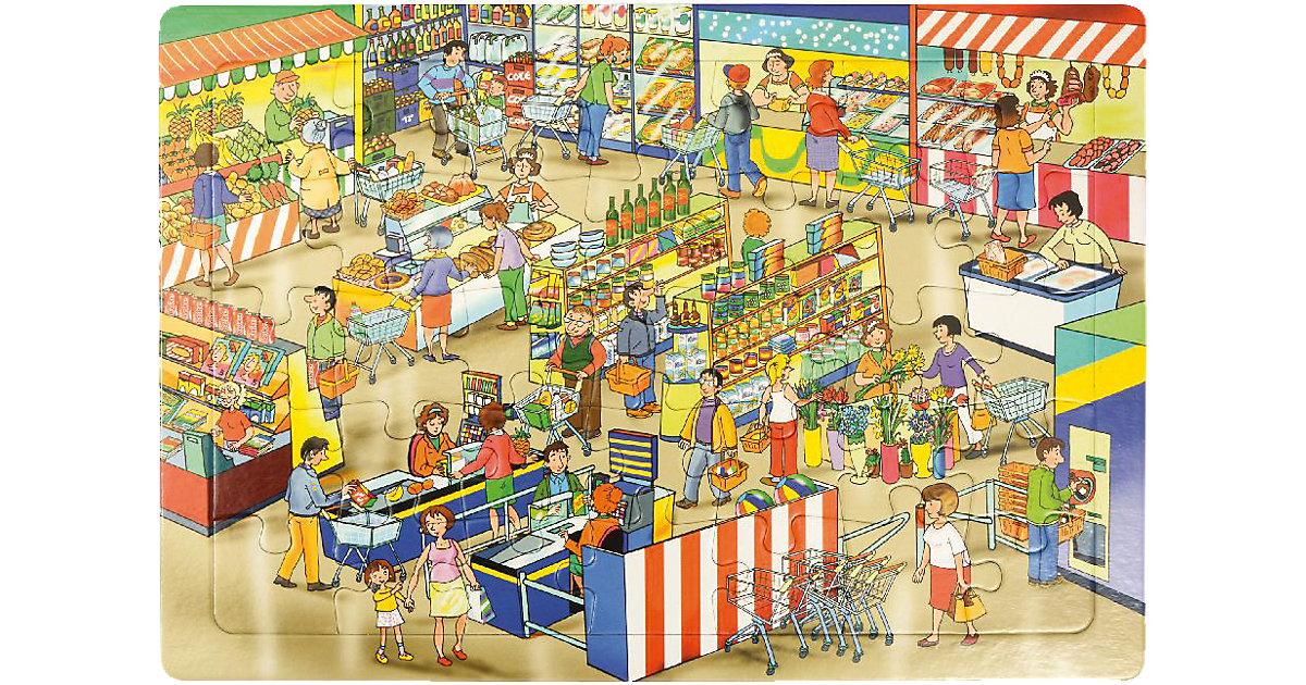 Rahmenpuzzle Markt, 35 Teile