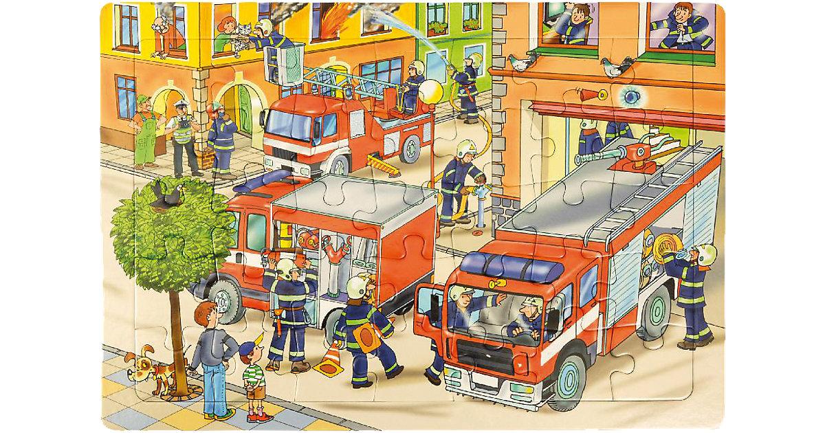 Rahmenpuzzle Feuerwehr, 35 Teile