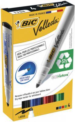 """Набор маркеров для доски Bic """"Velleda"""", 4 шт 1,5 мм"""