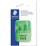 Точилка Staedtler 2 отверстия, зеленый неон