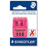 Точилка Staedtler 2 отверстия, розовый неон