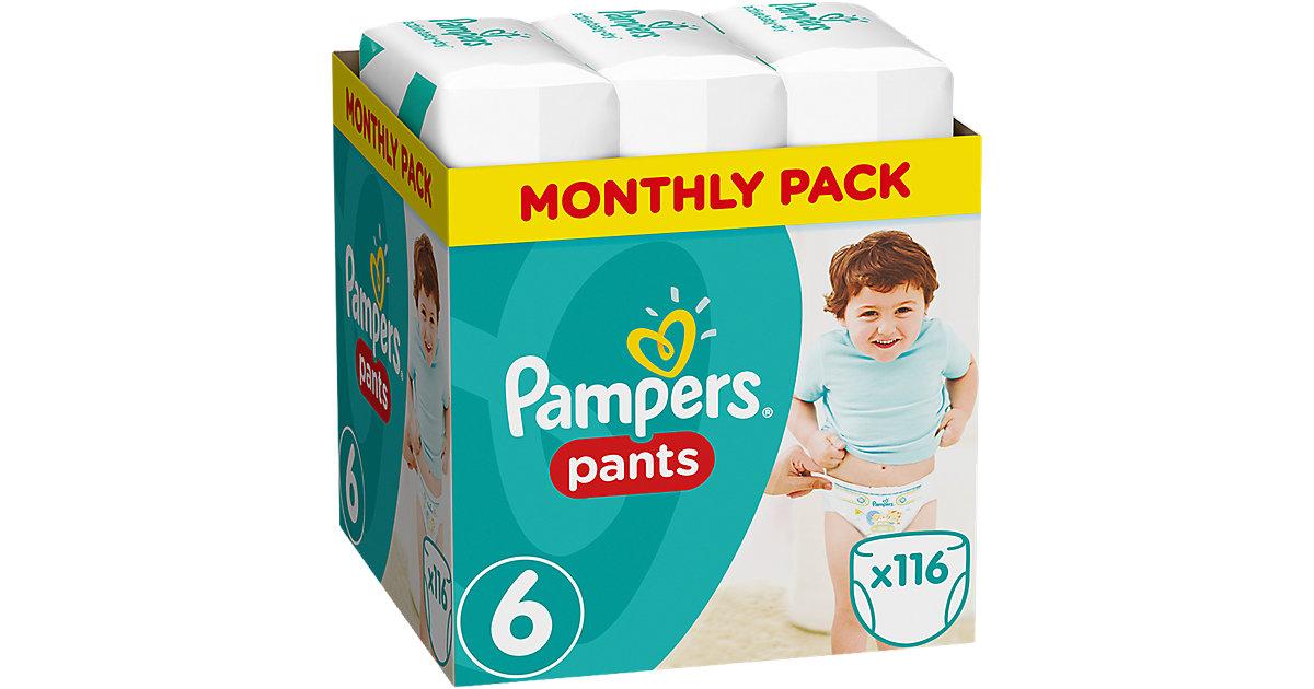 1x116 Stück Pampers Baby Dry Pants Gr.6 Extra Large 15+kg MonatsBox Gr. 15+ kg