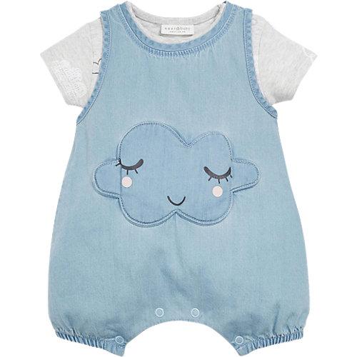 Baby Set Denim-Spieler mit Body Gr. 80/86 Mädchen Kleinkinder   05057639276301