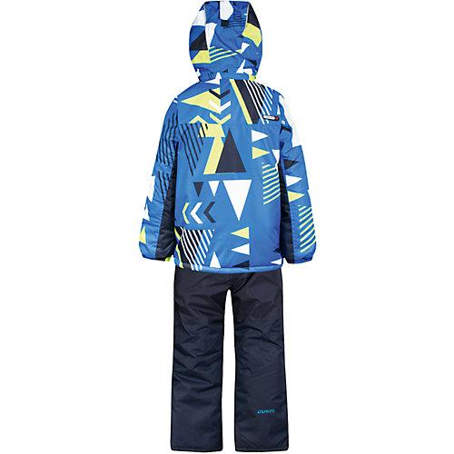 Комплект: куртка и полукомбинезон Gusti для мальчика - синий/зеленый от Gusti