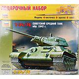 """Сборная модель Звезда """"Танк Т-34/76 1942г."""", 1:35 (подарочный набор)"""