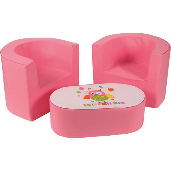 Mini Kindersitzgruppe Eule Rosa Knorr Baby