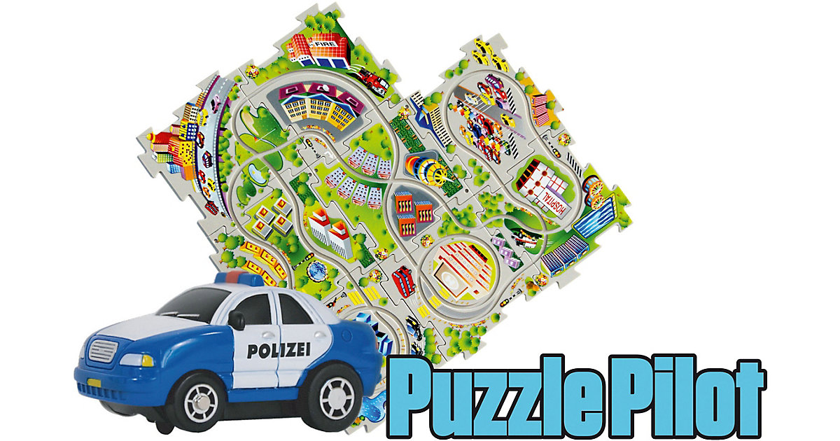 Puzzle Pilot Polizei mit Strecke zum Puzzlen