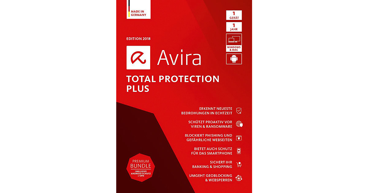 PC Avira Total Protection Plus 2018 - 1 Gerät