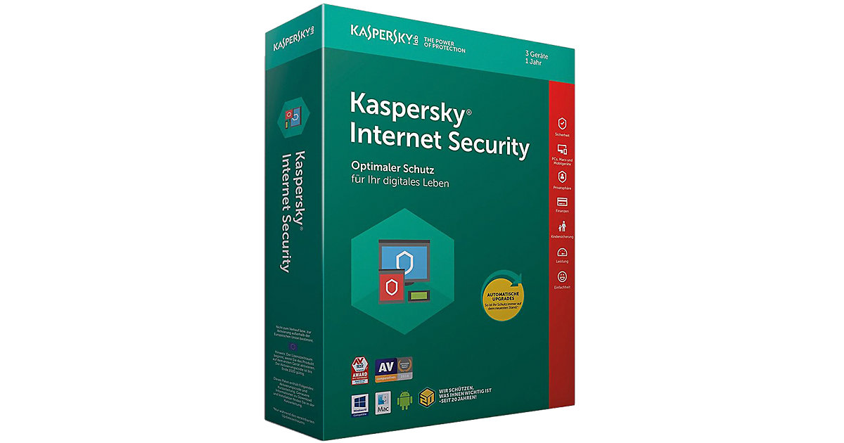 PC Kaspersky Internet Security 3 Geräte (CIAB)