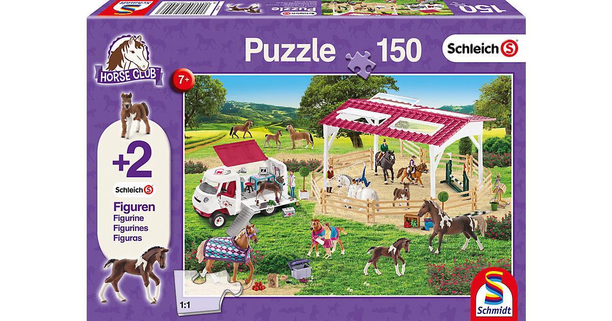 Puzzle 150 Teile Reitschule und Tierärztin + 2 Schleich®-Figuren