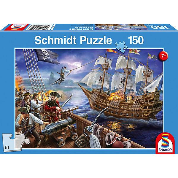 Puzzle 150 Teile Abenteuer mit den Piraten, Schmidt Spiele