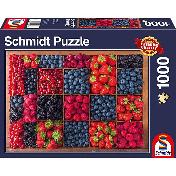 Puzzle 1000 Teile Beerenernte, Schmidt Spiele
