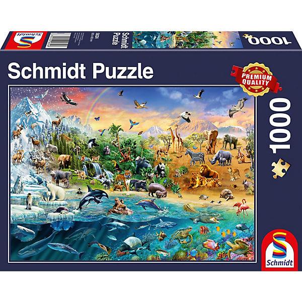 Puzzle 1000 Teile Die Welt Der Tiere Schmidt Spiele