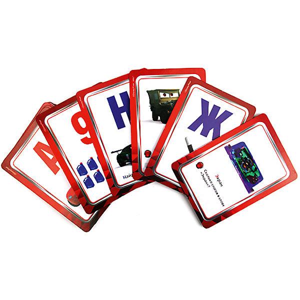 """Карточки развивающие """"Учим алфавит и цифры"""" Тачки Дисней"""