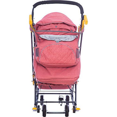 Санки-коляска Ника детям 7-3/2, в джинсовом стиле красный от Nika-Kids