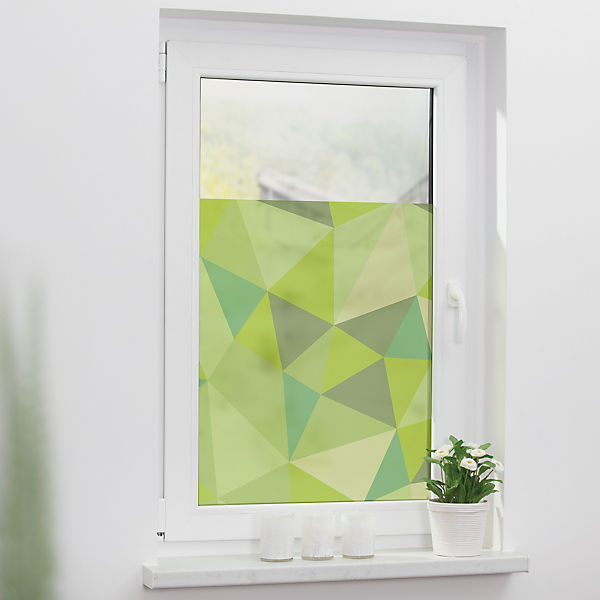 Fensterfolie Selbstklebend Sichtschutz Blickdicht Dreiecke
