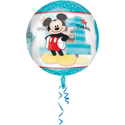 Folienballon Orbz Micky Mouse - 1st Birthday