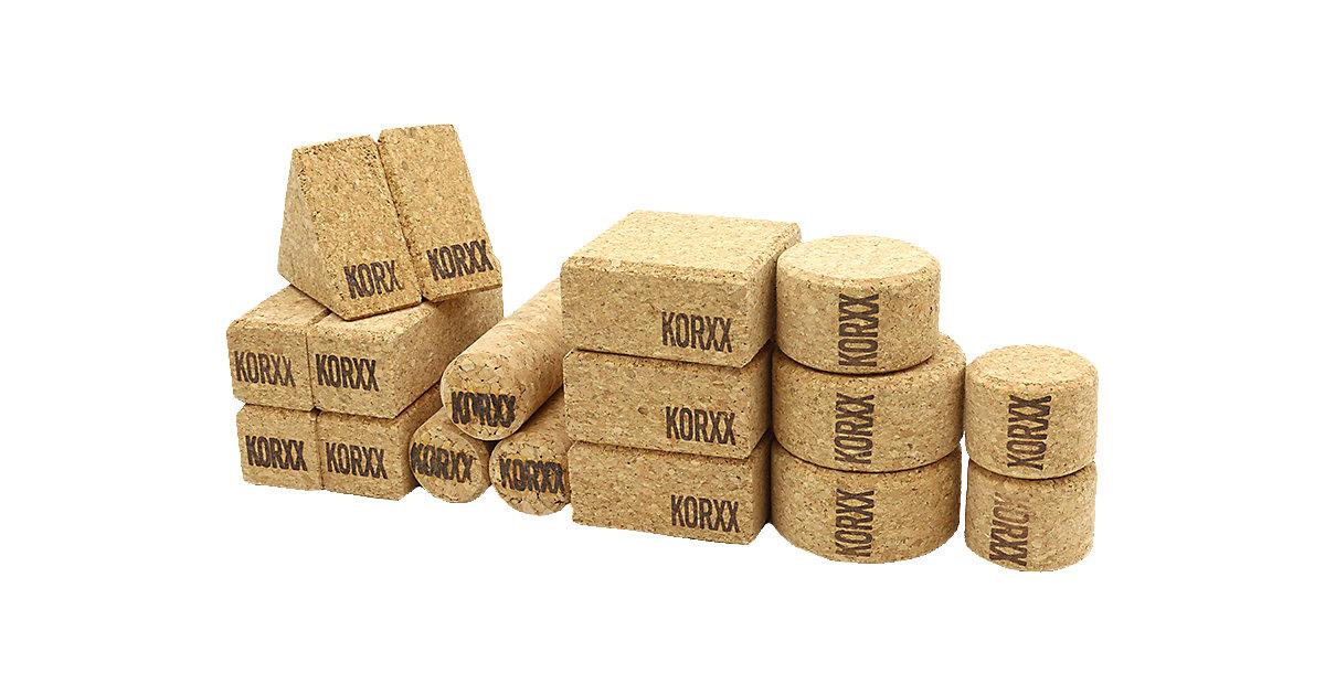 KORXX · Korkbausteine Form M, 60 Stk. in Filzbox