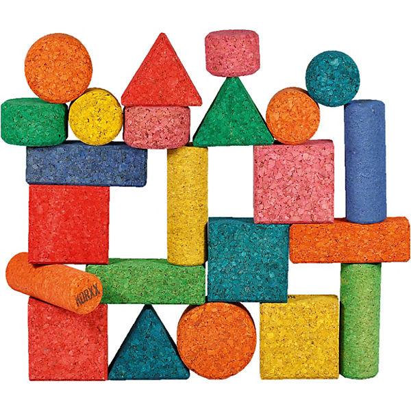 Korkbausteine Form Mix Farbe edu, 56 Stk., KORXX