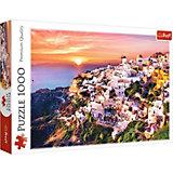 Пазлы «Закат над Санторини», 1000 деталей