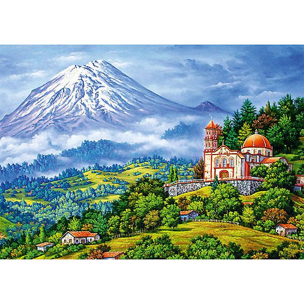 Пазлы «Пейзаж с вулканом», 1000 деталей
