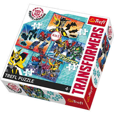 4in1 Puzzle - 35/48/54/70 Teile - Transformers