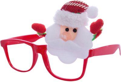 Новогодние очки Дед Мороз из полипропилена с декором из нетканого материала