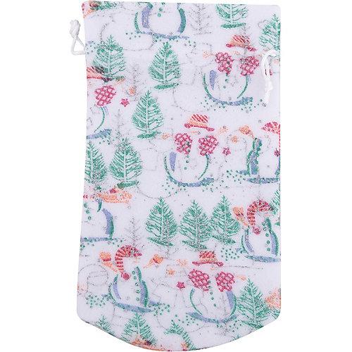 Мешок новогодний для подарков Снеговик и Елка 30*15 см арт.42537 из полиэстра от Magic Time