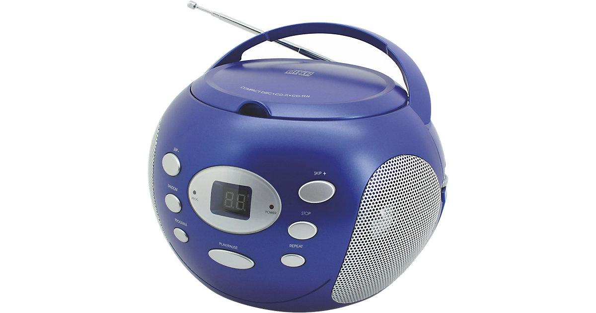 CD Player mit Radio, blau